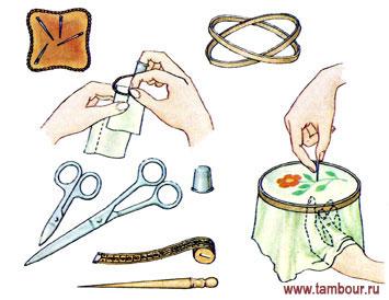 Приспособление и инструменты к вышивке