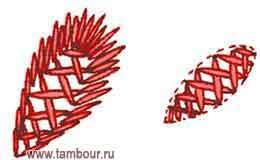 Владимирская гладь. Шов козлик - www.tambour.ru
