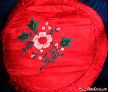 Вышивка круглая подушка