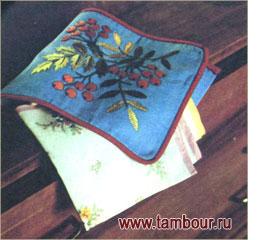 Сумочка «Рябина» для носовых платков - www.tambour.ru