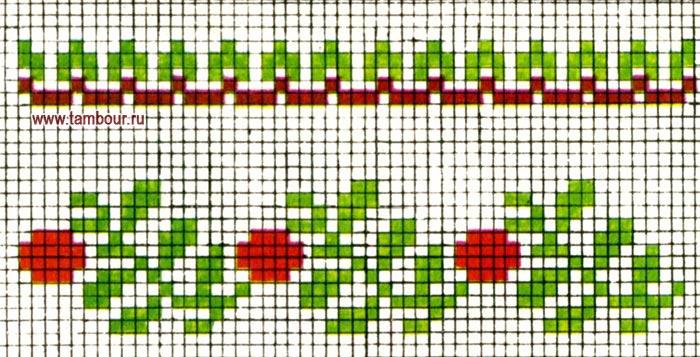 Схема узора растительный