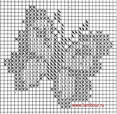 Схема вышивки бабочки