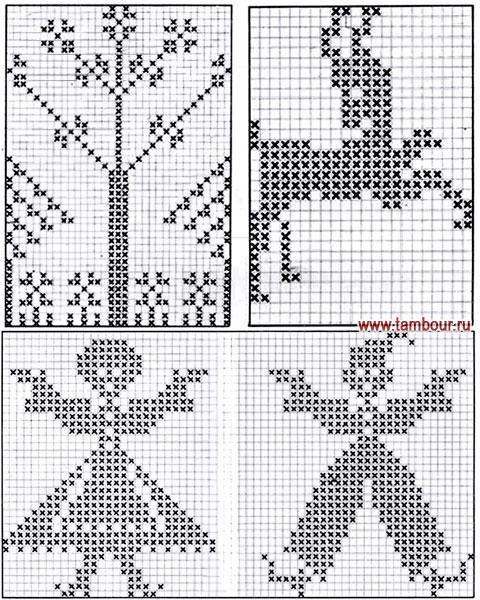 Схемы орнаментов для полотенец
