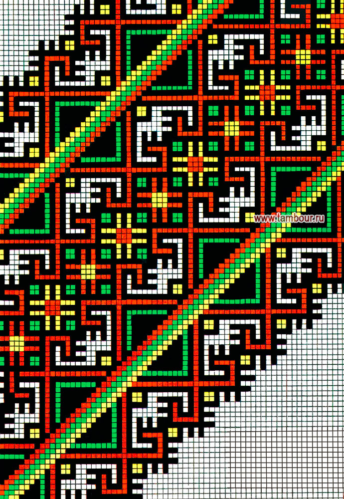 Вышивки крестиком геометрические узоры схемы 15