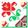 Цветок для вышивки в уголке - www.tambour.ru