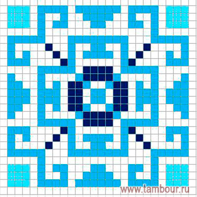 Схема вышивки квадратного