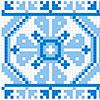Узор для вышиванки сине-голубой - www.tambour.ru