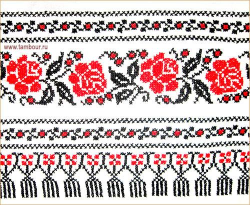 украинский рушник, вышитый